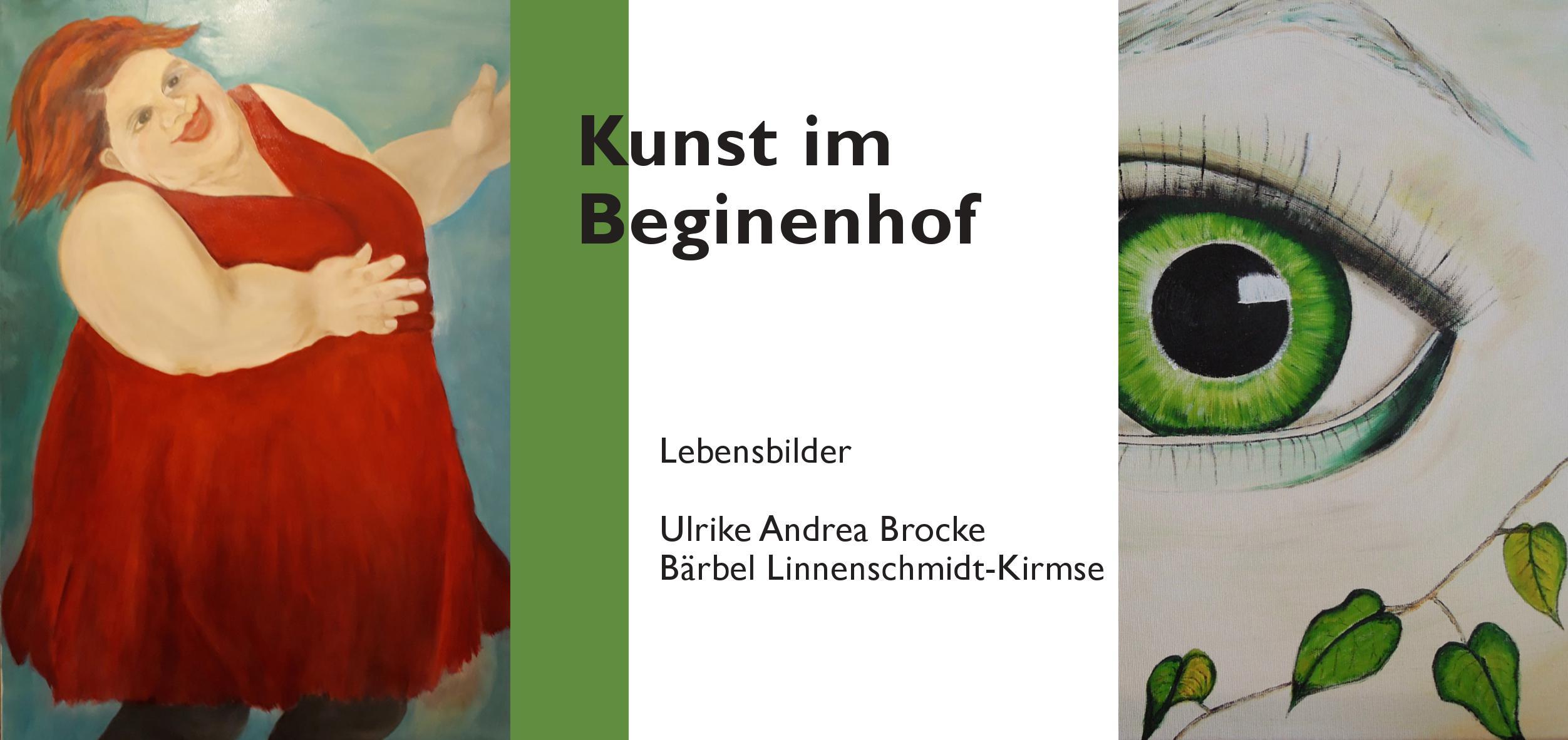 """Flyer zur Ausstellungseröffnung """"Lebensbilder"""" Juni 2018."""
