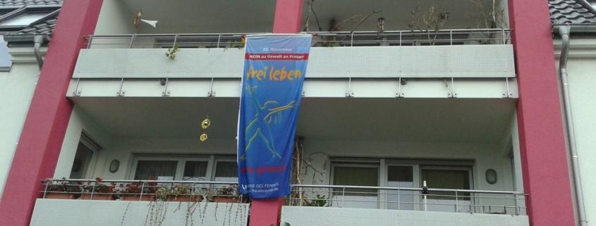 Nein zu Gewalt an Frauen - Aktion Bielefelder Beginenhöfe