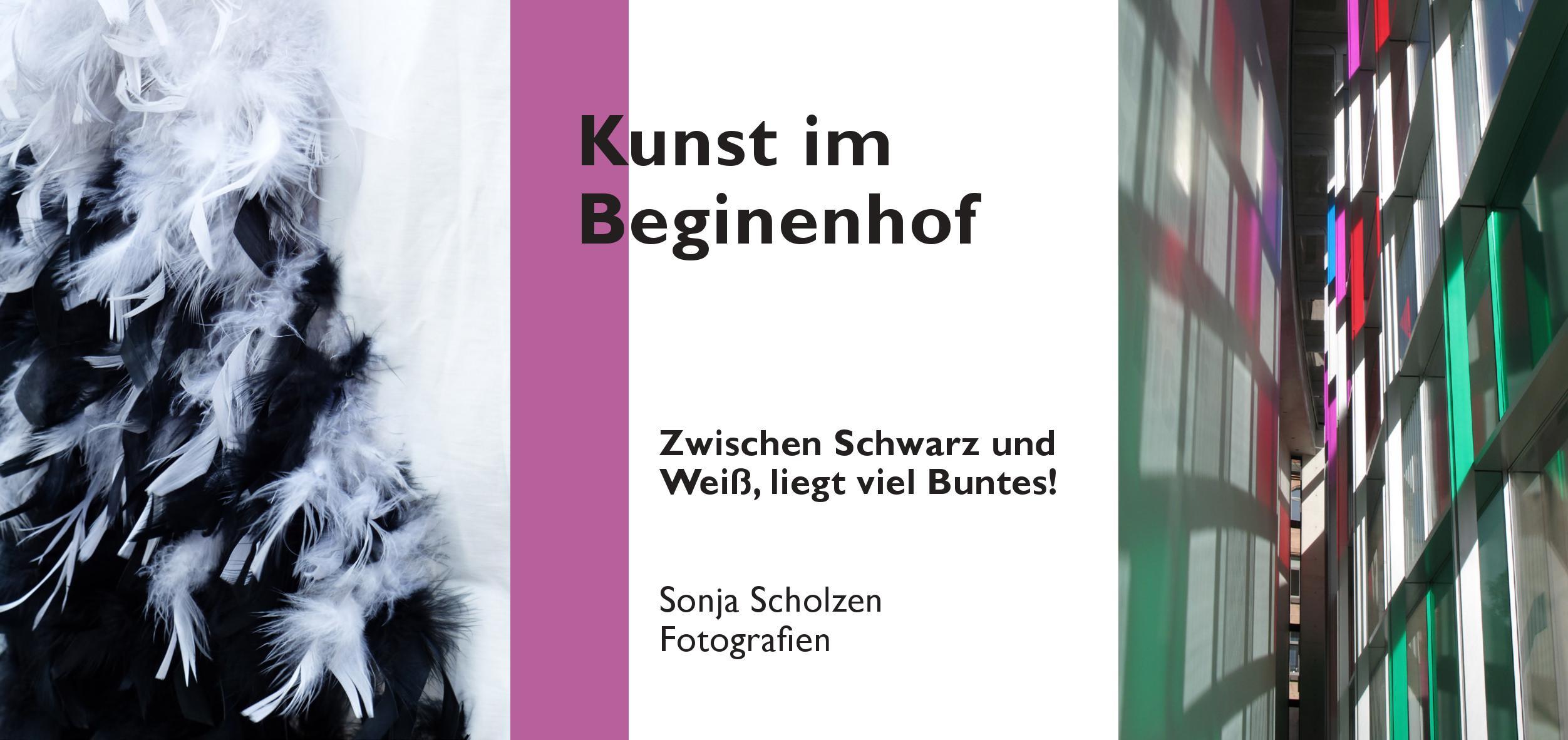 """Ausstellungseröffnung """"Zwischen Schwarz und Weiß liegt viel Buntes"""" im Bielefelder Beginenhof"""