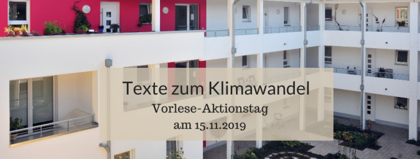 Vorlesetag 2019, Texte zum Klimawandel, Bielefelder Beginenhoefe