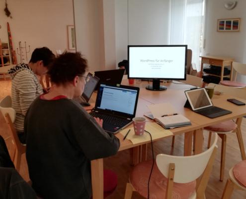 WordPress Schulung, Bielefelder Beginenhof, WP Workshop, Blog